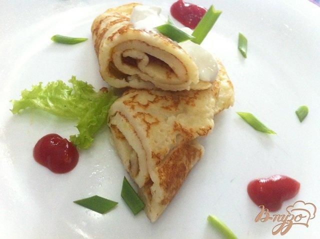 Фото приготовление рецепта: Блины из картофельного пюре шаг №5
