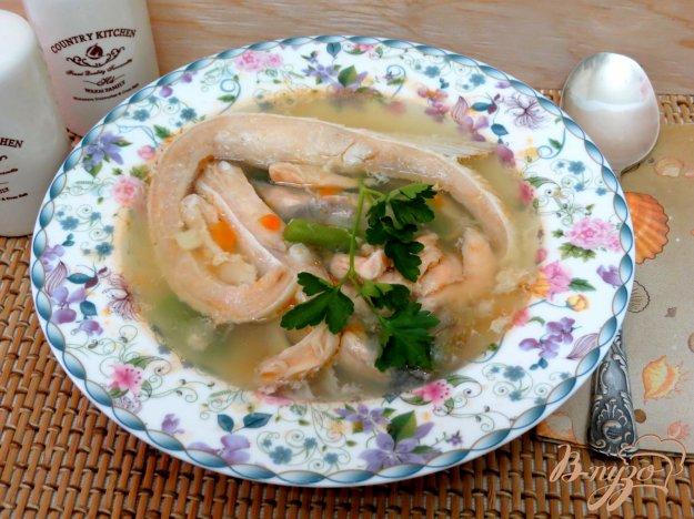 фото рецепта: Суп из брюшек лосося со стручковой фасолью