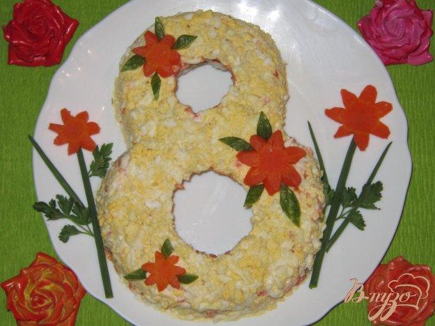 фото рецепта: Салат с огурцом и маринованными вешенками