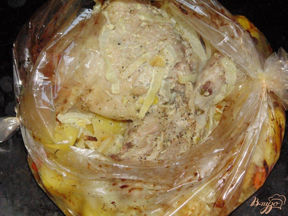 окорочок в духовке в рукаве рецепт с фото