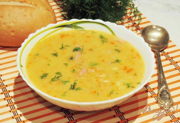фото рецепта: Гороховый суп с красной чечевицей