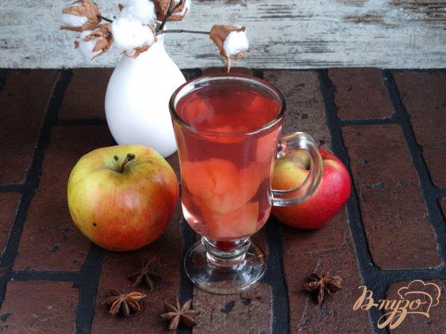 фото рецепта: Яблочно-клюквенный компот с анисом