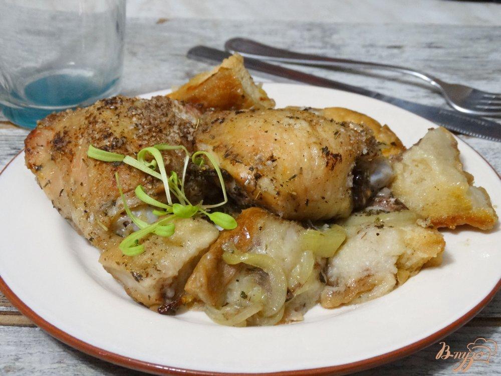 Курицу в фольгеы с фото
