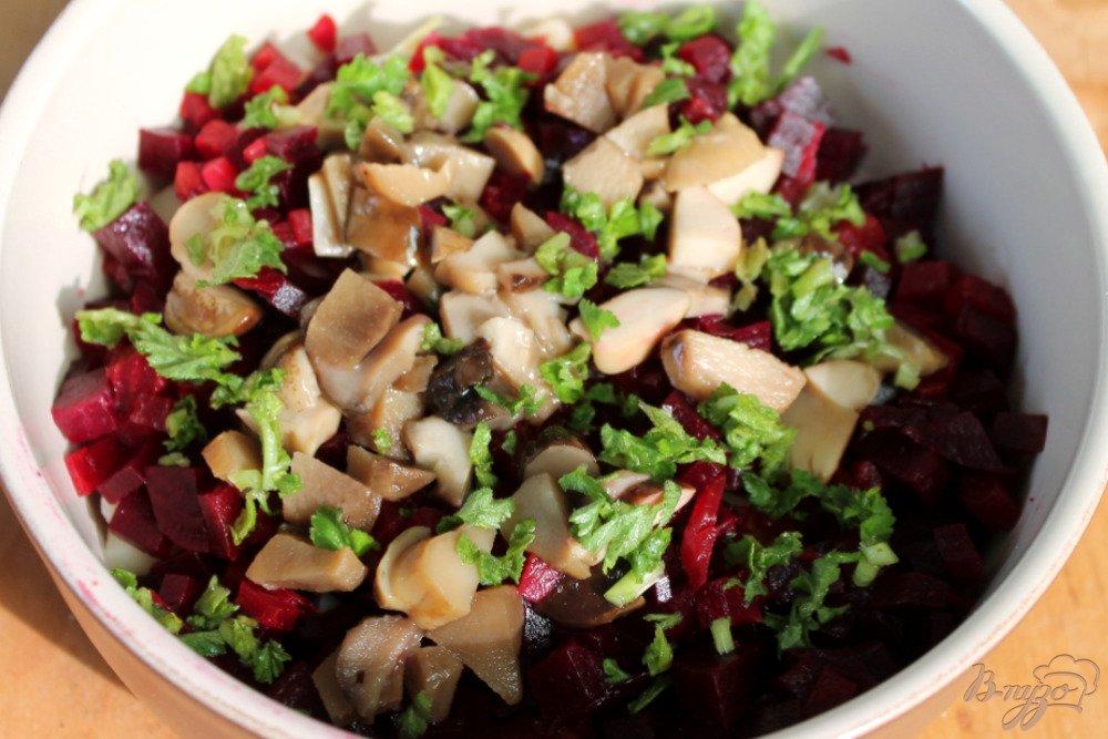 Салат свекла маринованные грибы