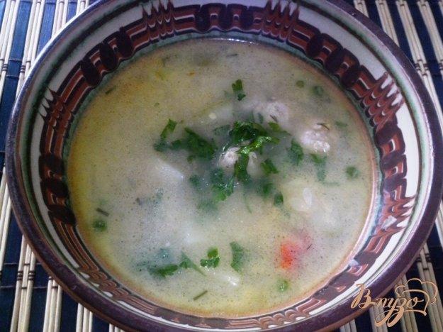 фото рецепта: Сырный суп с фрикадельками из индейки