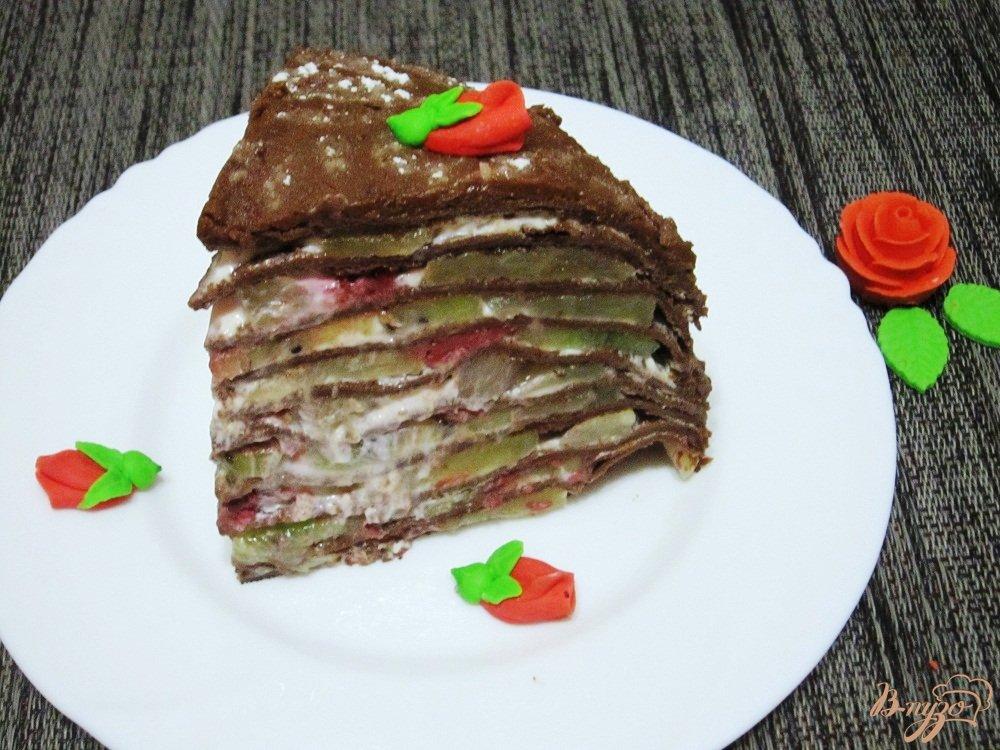 Блинный торт с фруктами рецепт