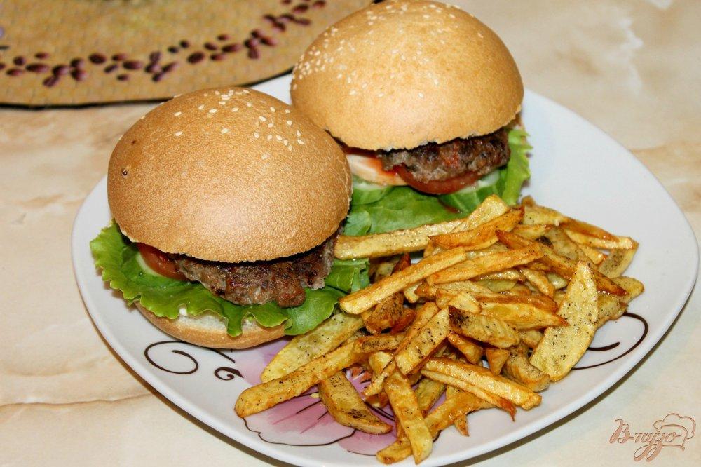 Гамбургер в домашних условиях с котлетой 110