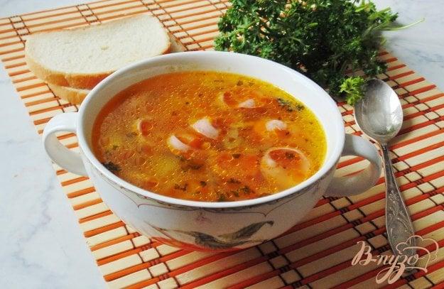 фото рецепта: Рассольник с сосисками