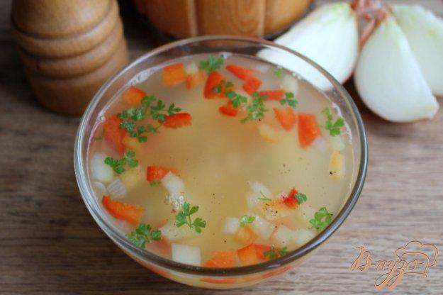 фото рецепта: Мясной суп с гороховыми хлопьями