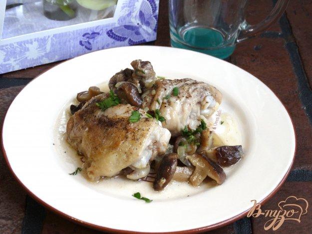 фото рецепта: Курица жареная с шиитаке