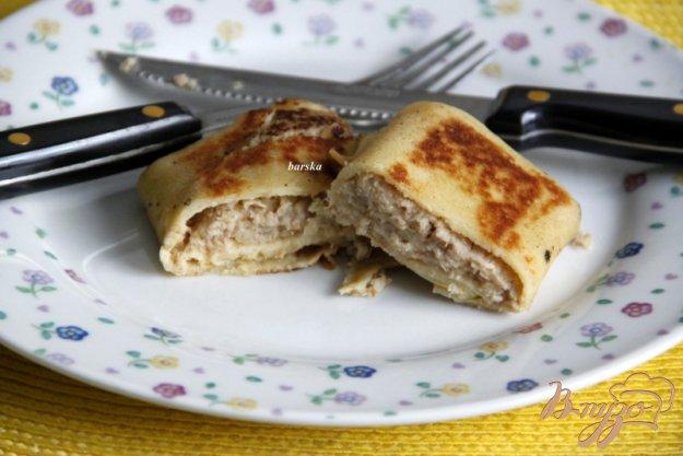 фото рецепта: Налистники  с мясом,  рисом и луком