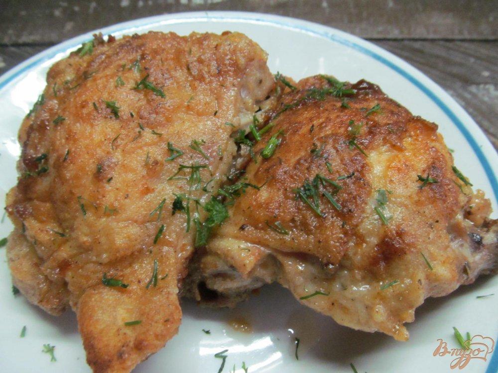 Куриные бедра в духовке с хрустящей корочкой с фото пошагово в