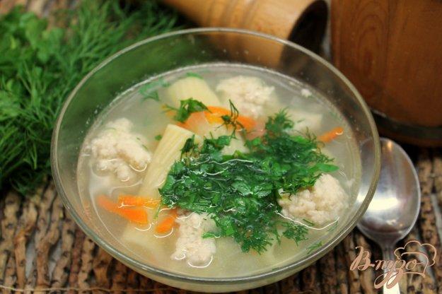 фото рецепта: Суп с фрикадельками и макаронами