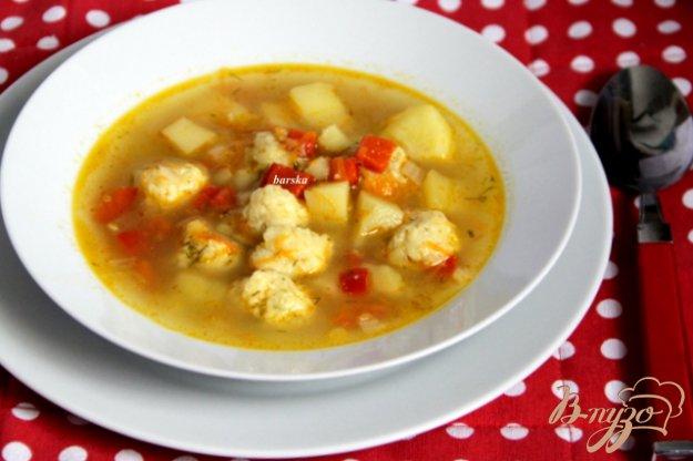 фото рецепта: Овощной суп с сырными шариками
