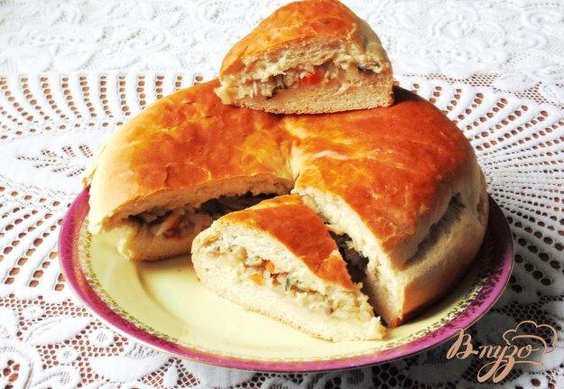фото рецепта: Сдобный пирог с капустой