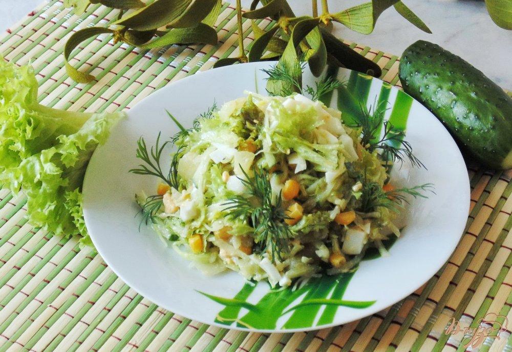 Салат с из курицы ананаса огурцы