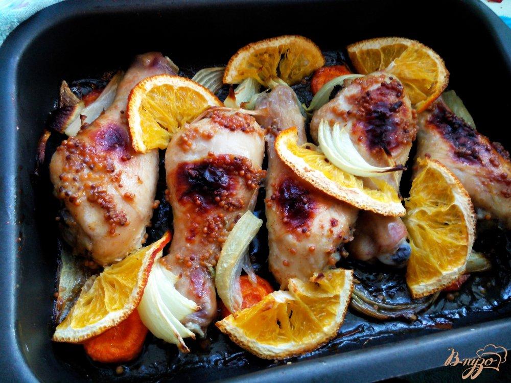 куриная голень с апельсинами в духовке рецепт