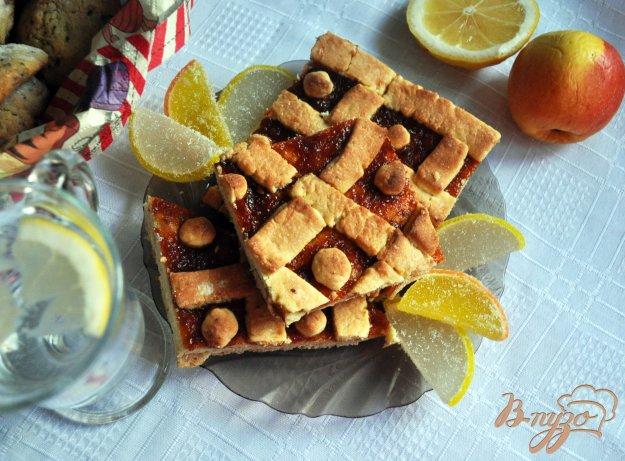 фото рецепта: Песочный пирог с абрикосовым вареньем