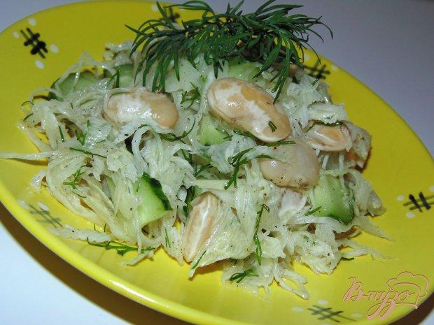 Салат из свежей капусты с фасолью рецепт