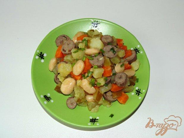 Салат с куриными сердечками и фасолью рецепт