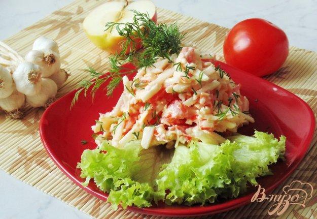 фото рецепта: Салат из помидоров, сыра и яблок