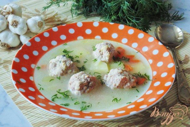 фото рецепта: Суп с освяными хлопьями и фрикадельками