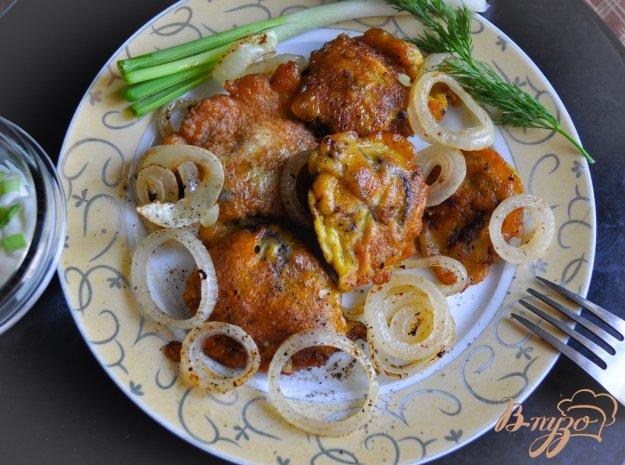 фото рецепта: Куриная печень в хрустящем пивном кляре