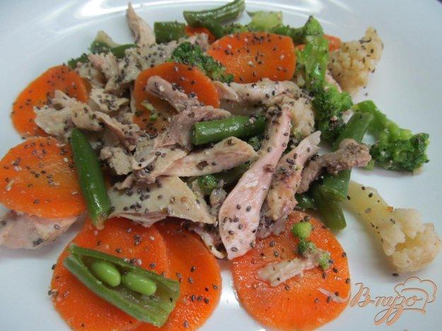 фото рецепта: овощной салат с курицей