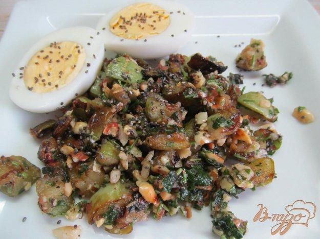 фото рецепта: Кабачки под арахисовым соусом