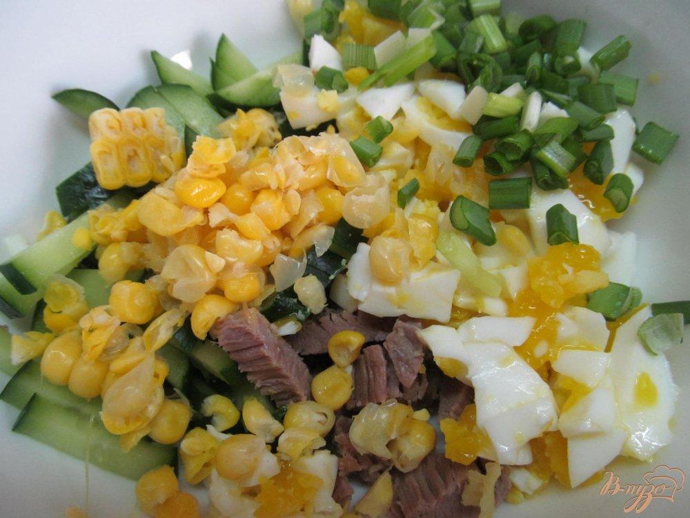 куриный салат рецепт с кукурузой и яйцом