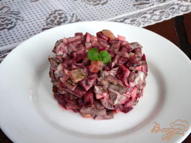 фото рецепта: Салат с отварным сердцем и свеклой