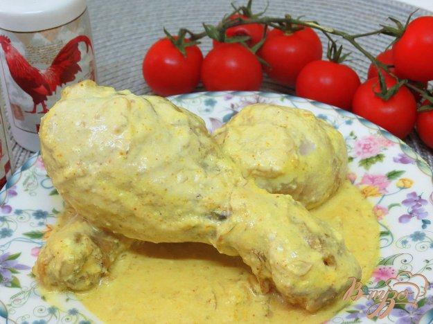 фото рецепта: Куриные голени в соусе с куркумой
