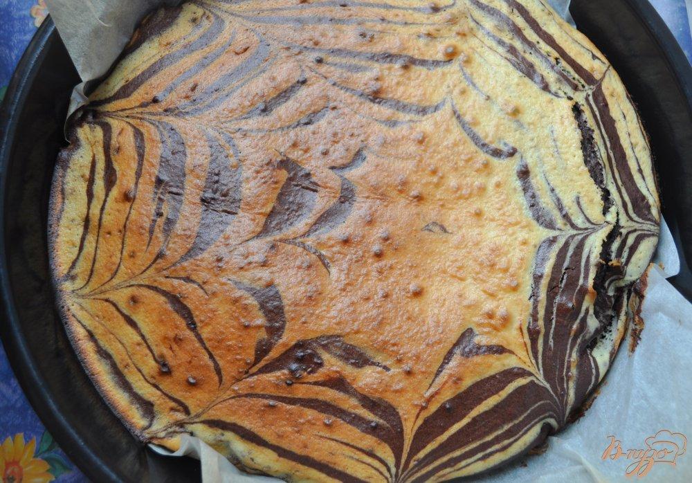 Пирог в мультиваркеы зебра с фото пошагово в