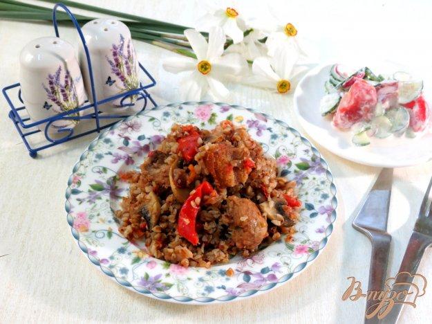 фото рецепта: Гречка со свининой и овощами