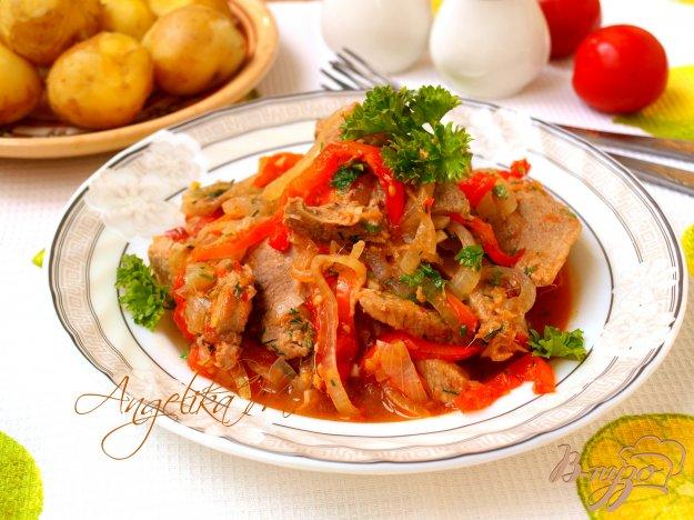 фото рецепта: Говядина тушёная с овощами