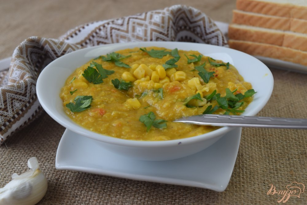 Суп с консервированной кукурузой рецепт с фото пошагово