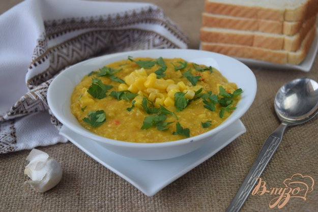 фото рецепта: Суп из консервированной кукурузы