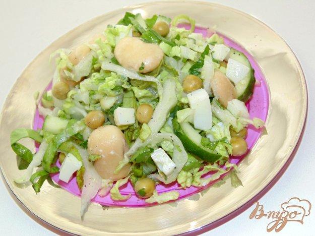 фото рецепта: Салат с белой фасолью и яйцом