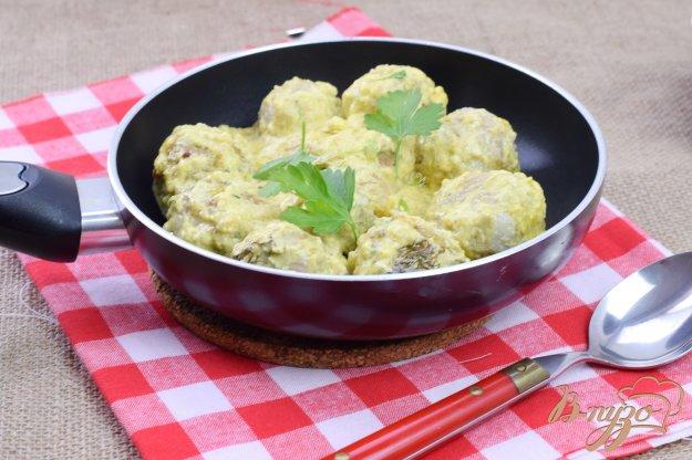 фото рецепта: Мясные шарики в сливочном соусе