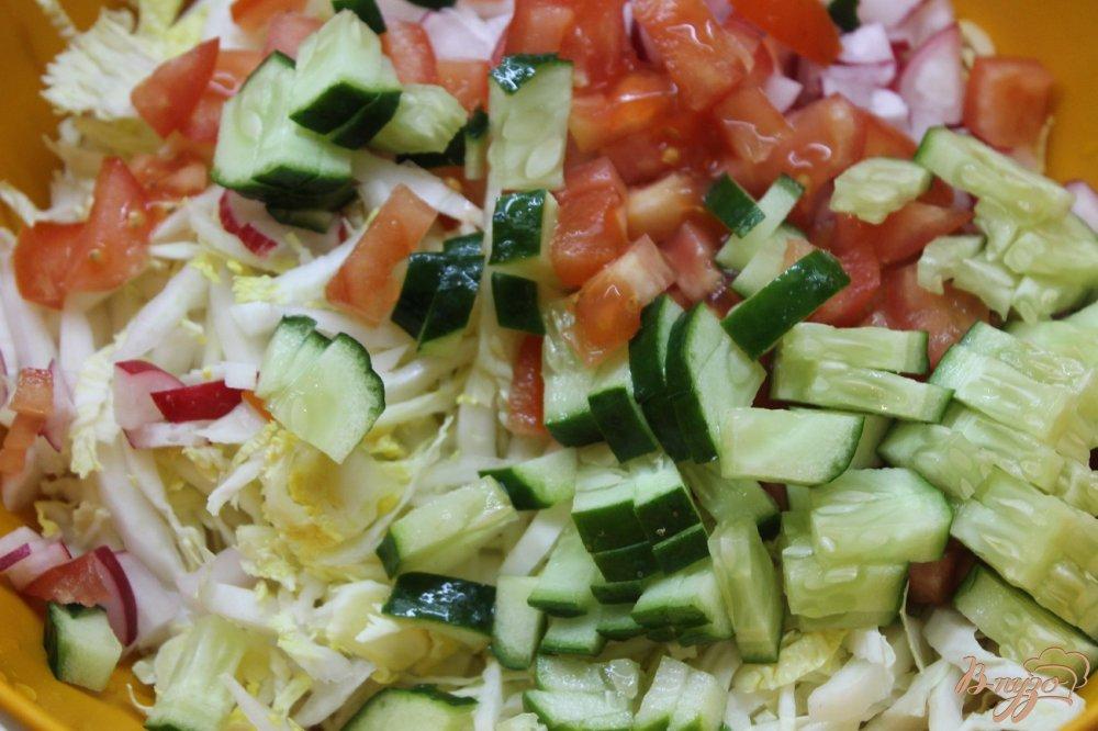 салат с пекинской капусты с овощами