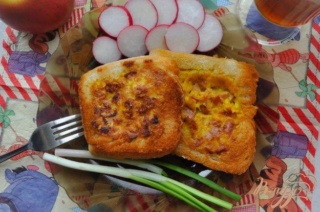 фото рецепта: Гренки с начинкой на завтрак