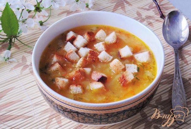 фото рецепта: Гороховый суп с крутонами
