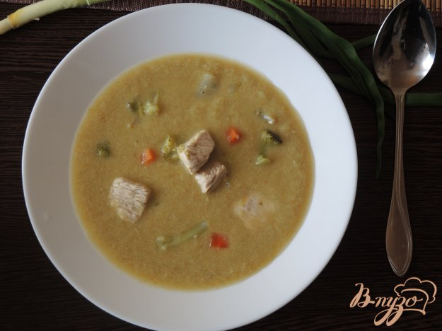фото рецепта: Суп-пюре из индейки и овощей в мультиварке