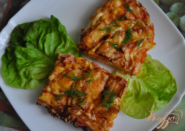 фото рецепта: Домашняя пицца с кукурузой