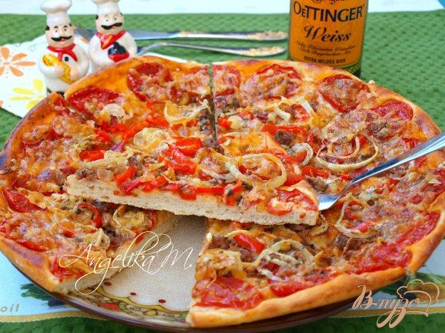 Пицца в духовке с фаршем рецепт с пошагово