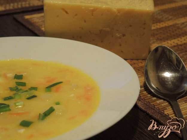 фото рецепта: Сырный суп с овощами