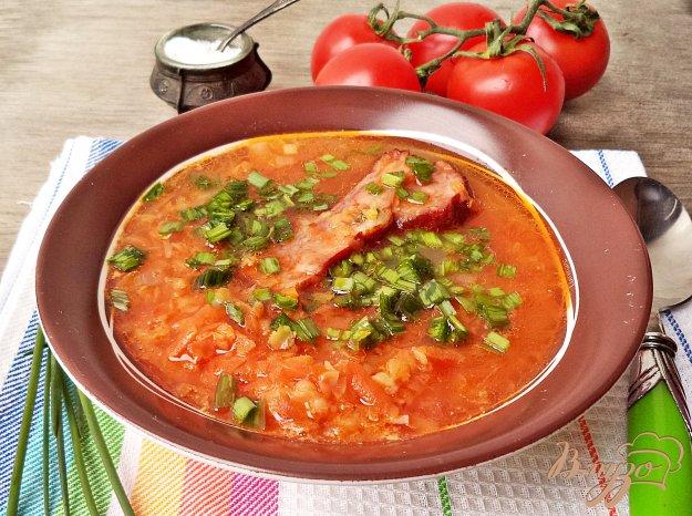 фото рецепта: Суп с чечевицей и копчёными рёбрышками