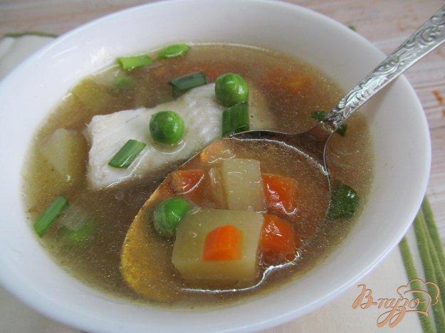 фото рецепта: Овощной суп на рыбном бульоне