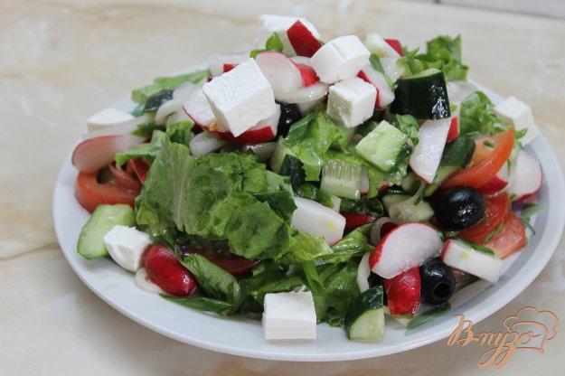 фото рецепта: Овощной салат с фетой