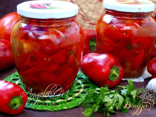 фото рецепта: Лечо с помидорами и болгарским перцем